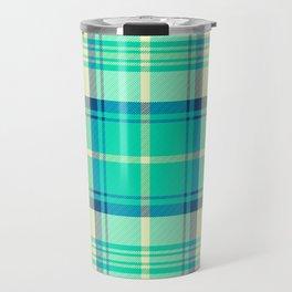 Turquoise Tartan Travel Mug