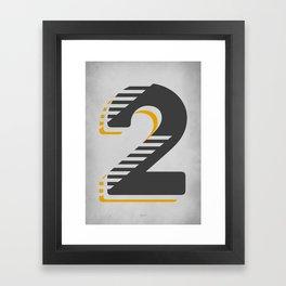 Number 2 Typography Framed Art Print