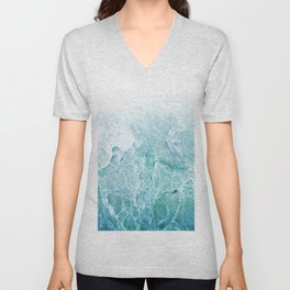 Sea Dream Marble - Aqua and blues Unisex V-Neck