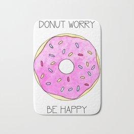 Watercolor Donut Bath Mat