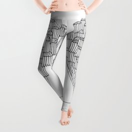 The Wilted Daisies Leggings