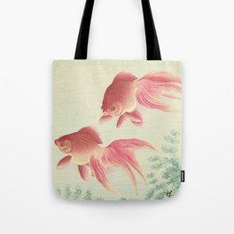 Goldfish - Vintage Japanese Woodcut Tote Bag