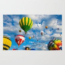 Vibrant Hot Air Balloons Rug