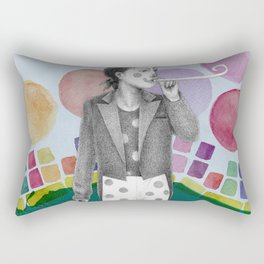 clown and lots of dots Rectangular Pillow
