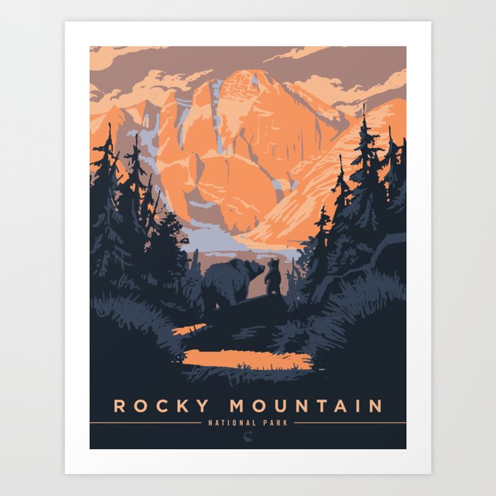 Rocky Mountain National Park Poster Kunstdrucke