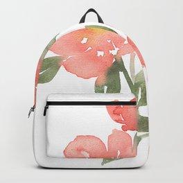 Loose watercolor peonies Backpack