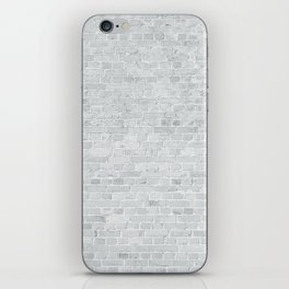 White Washed Brick Wall Stone Cladding iPhone Skin
