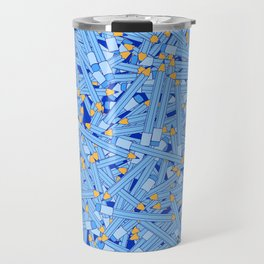 Bedtime Stories BLUE / Cartoon pencil pattern Travel Mug