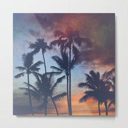 Waikiki Sunset Colors Metal Print