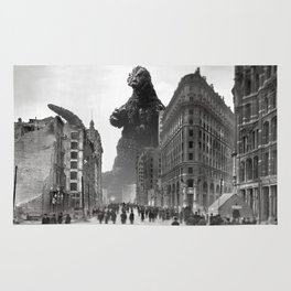 Old Time Godzilla in San Francisco Rug