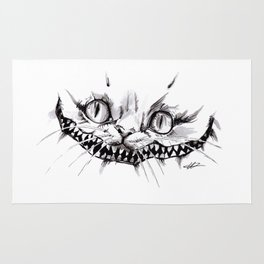 Cheshire Smile Inktober Drawing Rug