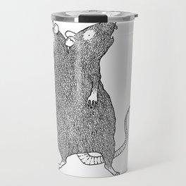 Two Headed Rat, I Love You Travel Mug