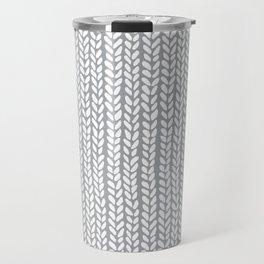 Knit Wave Grey Travel Mug