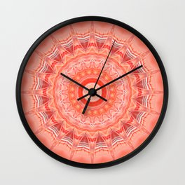 Mandala soft orange 3 Wall Clock