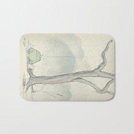 The frog under the rain Bath Mat