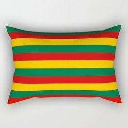 lithuania benin burkina faso flag stripes Rectangular Pillow