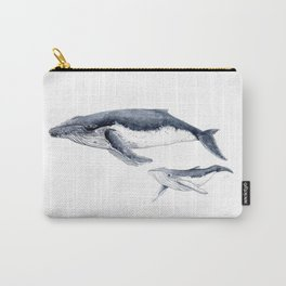 Humpback whale with calf Carry-All Pouch