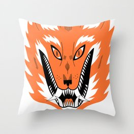 Cursed Fox Throw Pillow