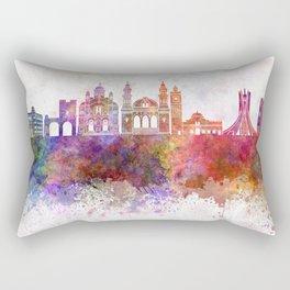 Algiers skyline in watercolor background Rectangular Pillow