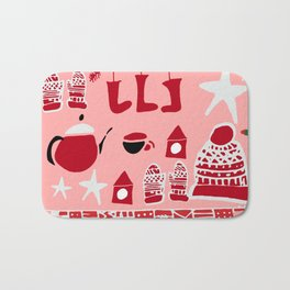 winter gear pink Bath Mat