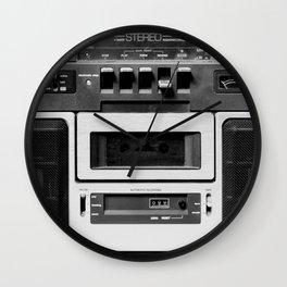 cassette recorder / audio player - 80s radio Wall Clock