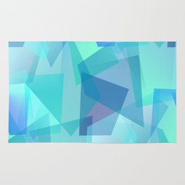 Blue Glass Shards Rug
