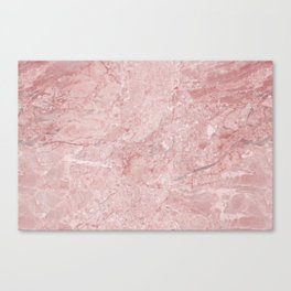 Blush Pink Marble Canvas Print