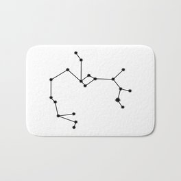 Sagittarius Astralolgy Star Sign Minimal Bath Mat
