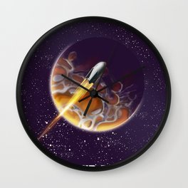 Tour the Universe - Sci fi poster Wall Clock