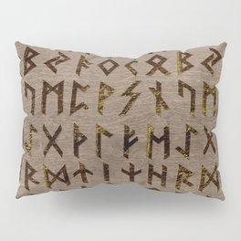 Ancient Celtic Runes  Alphabet pattern Pillow Sham