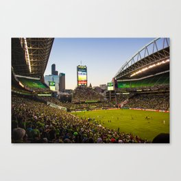 A Night With The Seattle Sounders Canvas Print