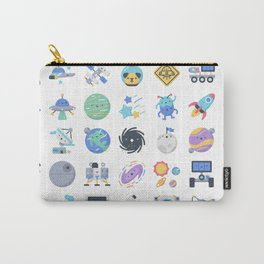 CUTE OUTER SPACE / SCIENCE / GALAXY PATTERN Carry-All Pouch
