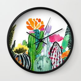 A Prickly Bunch Wall Clock