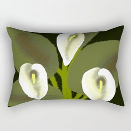 Lilies Rectangular Pillow