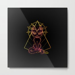 Bastet - Eyes on you Metal Print
