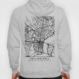 PHILADELPHIA PENNSYLVANIA BLACK CITY STREET MAP ART Hoody