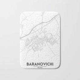 Minimal City Maps - Map Of Baranovichi, Belarus. Bath Mat