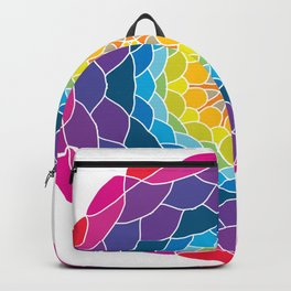 floral ornament. circular pattern Backpack