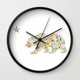 California Bear Wall Clock