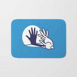 hand shadow rabbit Bath Mat