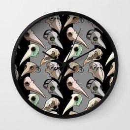 Plague Doctor's Wardrobe (bright masks) Wall Clock