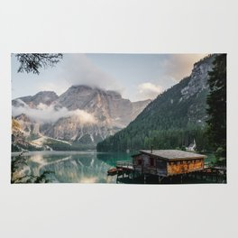 Mountain Lake Cabin Retreat Rug