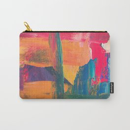 Abstract Art Colorful Vibrant Strong Brush Strokes Carry-All Pouch