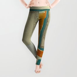 Mid Century Modern Blurred Abstract Best Most Popular Leggings