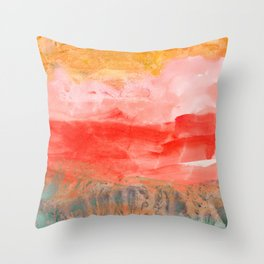 coral horizon Throw Pillow