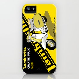 Yellow & Black Lambretta Scooter iPhone Case