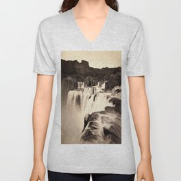 Vintage Waterfall Unisex V-Neck