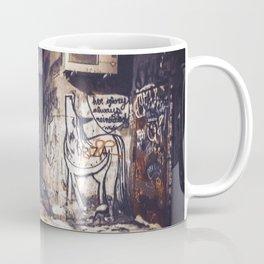 Lower East Side - Midnight Warmth on a Snowy Night Coffee Mug