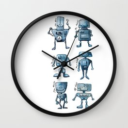 We Are All Robots Wall Clock