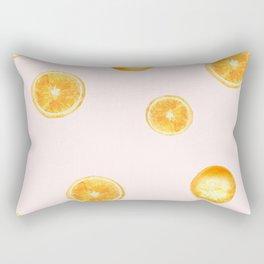 Orange watercolor Rectangular Pillow